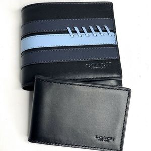 Coach 3-IN-1 Wallet With Baseball Stitch Black
